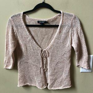DKNY blush knit cardigan